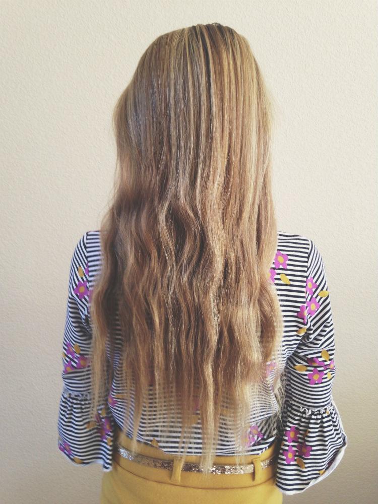 Step 1// Brushed hair