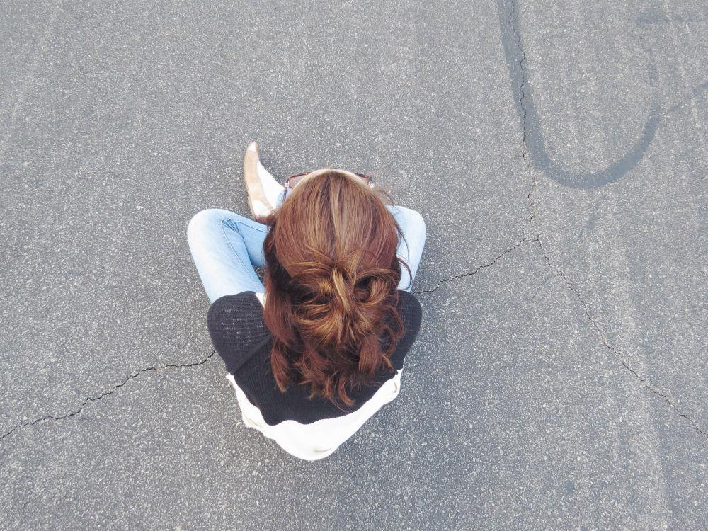 Top shot of hair