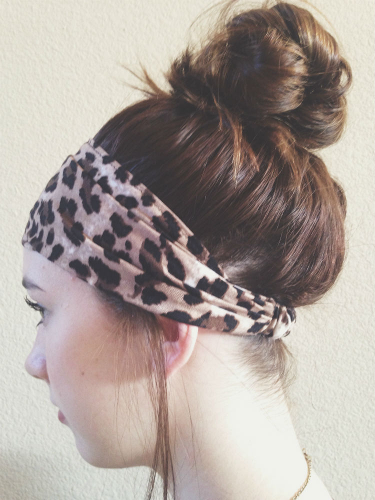 High bun w/ headband