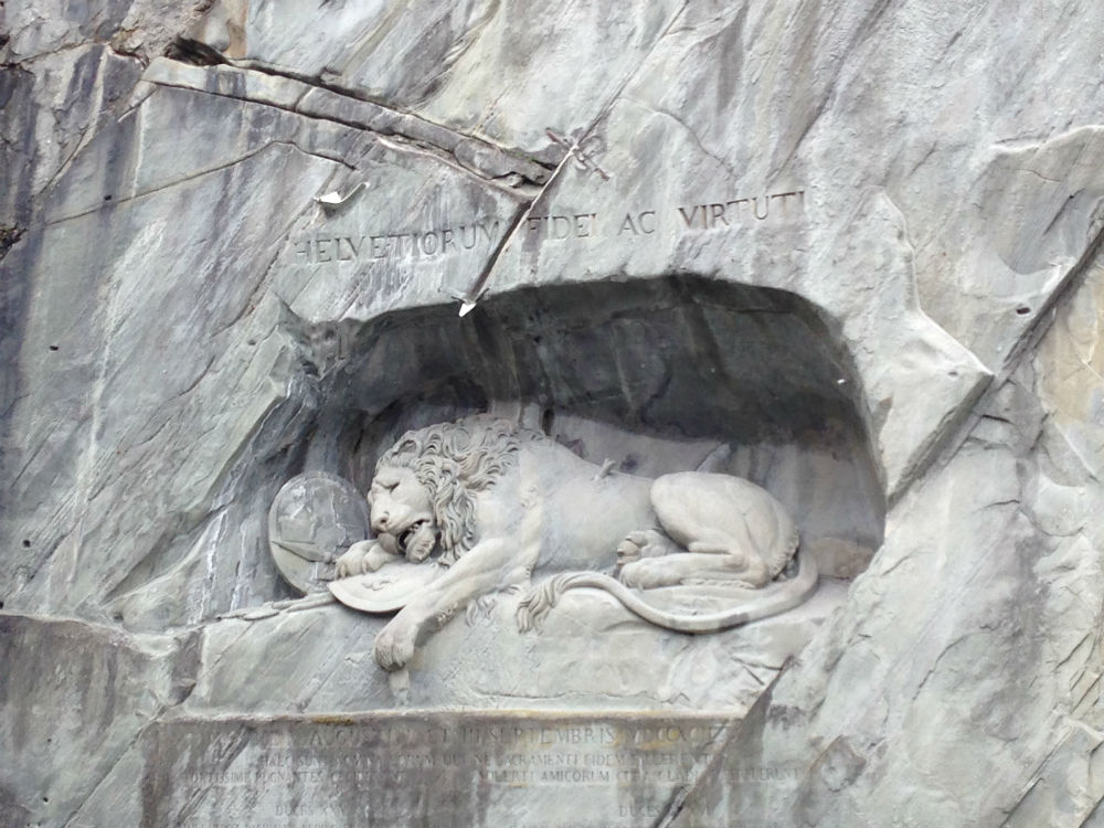 Once we got to Switzerland, we went to the Lion of Lucerne.