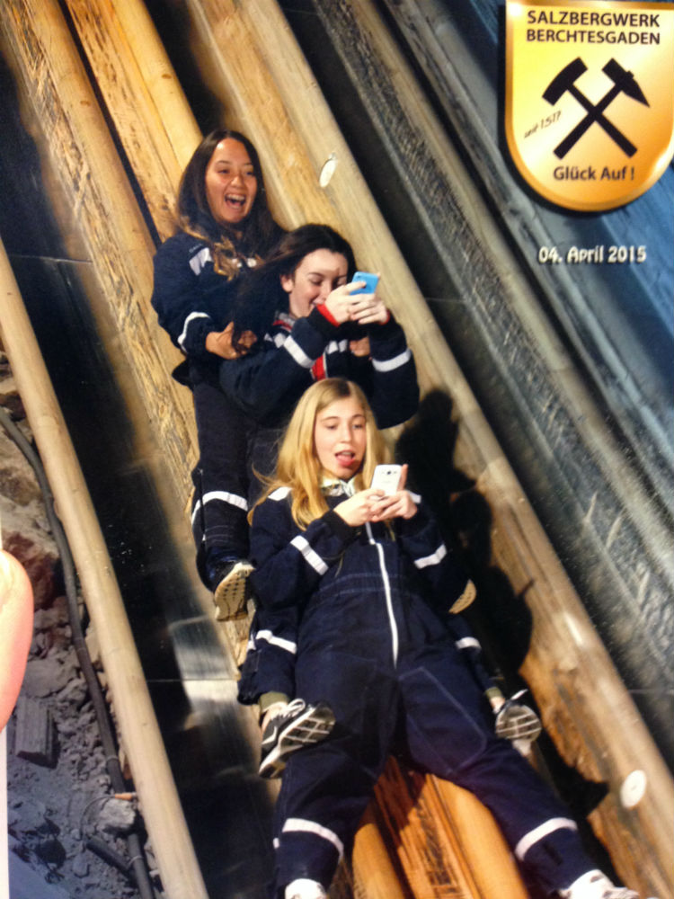 Haha we were videoing the slide down the mines and didn't know there was going to be a picture.