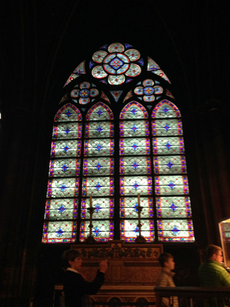 The stained glass inside were gorgeous! I couldn't get over it.