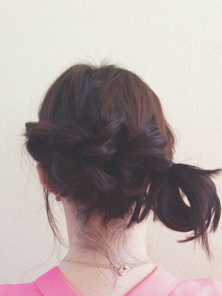 Step Eight // Looped bun