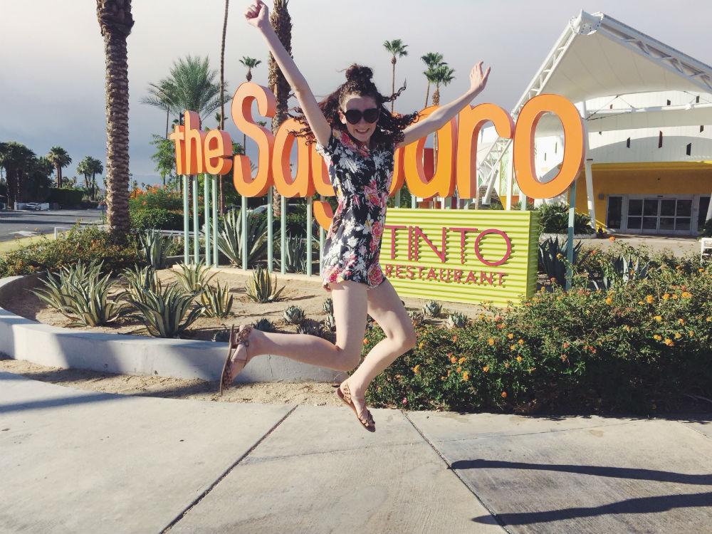 Jumping for joy because vacay!
